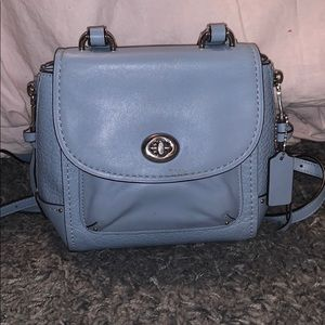 Baby blue coach purse/backpack